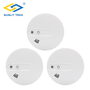3pcs lot Fire Smoke Sensors Wifi Wireless Heat 2 in 1 Smoke Temperature Detector Sensor Alarm For 433MHz Home Security System
