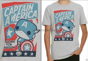 Funko Pop! Tees CAPTAIN AMERICA T-Shirt Hot Topic Exclusive Free Ship