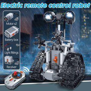 Город Креатив RC Robot Electric Building Blocks Technic дистанционного управления Кирпичи Интеллектуальный робот Kid Охладить подарок