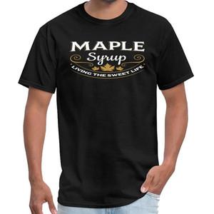 Заказные кленовый сироп Living The Sweet Life т рубашки мужчин мужская женская Valhalla Футболка XXXL 4XL 5XL HipHop
