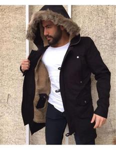 Casual manches longues couleur unie capuche Vestes Polaires 20FW Hommes Veste Hiver Plus Size Designer Mens Jackets Mode