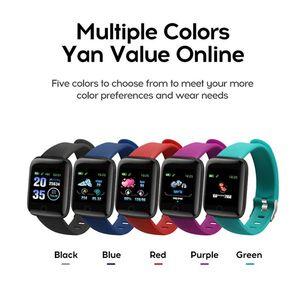 Fitness Tracker ID116 116 PLUS intelligente Bracciale con pressione cardiaca intelligente cinturino Sangue Wristband PK ID115 PLUS 116 PLUS F0 più economico