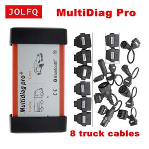 ile ve Bluetooth MultiDiag Pro + TCS PRO PLUS Teşhis Aracı + 8pcs kamyon kablosunu uzatmak 2020,3 TCS tarayıcı olmadan En çok satan