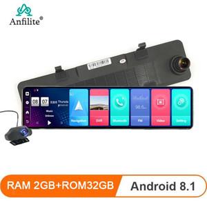 "Anfilite 12"" 4G ADAS Car Dashcam Android 8.1 WiFi DVR Camera 1080P Video recorder Dash Cam 2+32G Rearview mirror GPS Navigator"