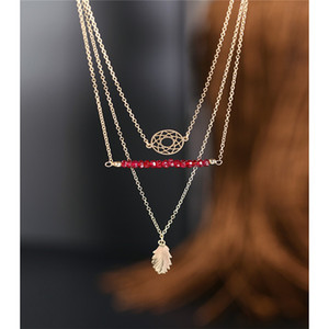 DAIMI Faceted Ruby Necklace Female Genuine 14K Gold Injection Sleeve Gift Customization