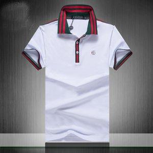Neue Designer-Polo-Hemden der Männer Luxus-Polo beiläufigen Männer Polo-T-Shirt Snake Bee Letter Print Stickerei Mode High Street Herren Polos F9