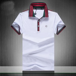 New Designer Polos Hommes Polo de luxe Hommes Casual Polo T-shirt de serpent Lettre d'abeille Imprimer Broderie Mode Rue Hommes Polos F9