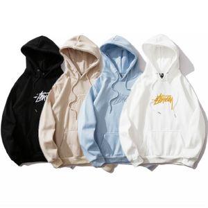 2020 nuovo B909 # Stussy Seiko Ricamo e del velluto 2020 nuovo Hoodie di moda casual Nero Bianco Blu Khaki M-XXL
