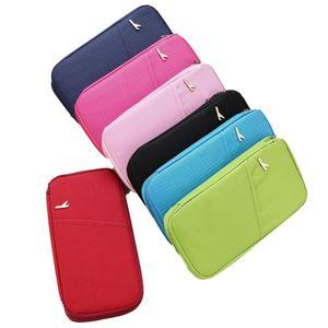 Passport Storage Bag Ticket Holder Wrap Multi Function ID Handbag Men Women Wallet portable travel storage clutch bags DHE511