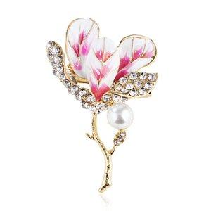 accessori esplosione perla fiore spilla boutique cristallo di modo indumenti alta gamma accessori della lega monili creativi pin
