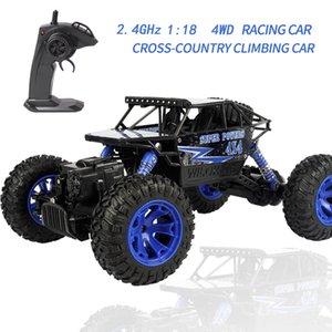 2.4G 1: 18 4WD RC عبر البلاد تسلق السيارة عن بعد سيارات التحكم صبيان لعب للأطفال RC سيارة