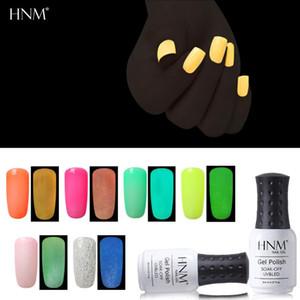 HNM 8ML Luminous UV Gel Varnish Soak Off Semi Permanent Paint Gellak Gel Hybrid Nail Fluorescence Nail Polish Lucky Ink