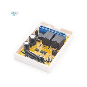 DC / AC 12-24V 2 Canal RF 433MHz sem fio Remote Control Switch Relé receptor para Electric Motor and Light