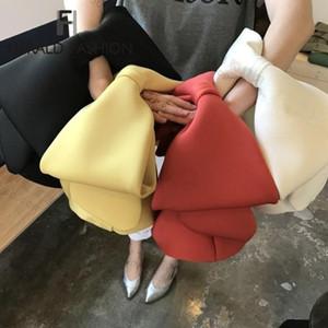 Diseñador Herald Moda bolsos de las mujeres del arco de los embragues del día del bolso del partido de tarde de las señoras Negro Embragues bolso del hombro del bolso de la Navidad