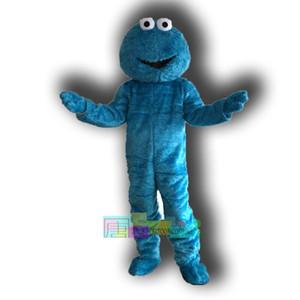 Vente en gros-bleu biscuit mascotte monstre taille adulte costume biscuit mascotte monstre livraison gratuite costume