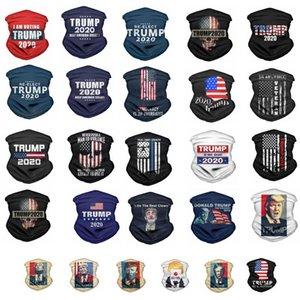 Maschera Trump Face Magic Foulard presidente americano Trump Elezione Bandana antipolvere magica esterna Sciarpa di riciclaggio Copricapo Partito Mask DHA1090