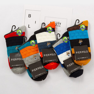 2020 New Winter Fashion Brand Men's Cotton Socks Breathable Business Casual Sock Long Crew Socks Male Mix Color 5 Pair Lot