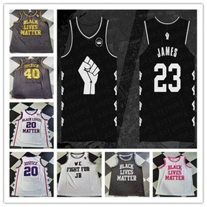 2020 New Fashion Men Black Lives Matter We Fight For JB Basketball Jerseys Custom Any Name Any Number Stitched Shirt Cheap Size S-4XL
