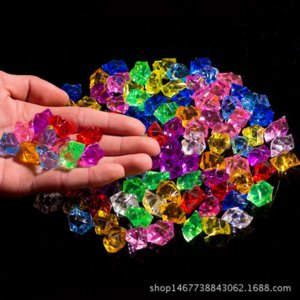 IJpY7 Сахар рытья машины счастливого камня красочного алмаз пластик дробленой акриловые ледяная глыба красочного Binfen кристалл алмаз CrystalIce Crysta