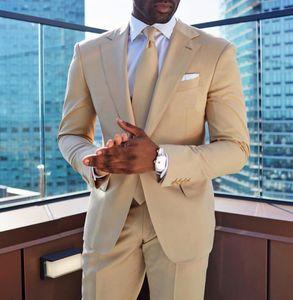 Men Suits Two Pieces Beach Groomsmen Wedding Tuxedos For Men Slim Fit Notched Lapel Best Man Blazer Men Party Suit Custom Made(Blazer+Pants)