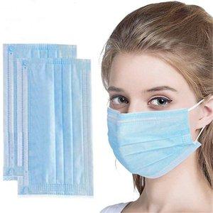 Outdoor Oreja-Loop FA FABLE FABLE 3 Capa de polvo Boca Polvo NXSF Anti 3-Ply Máscaras desechables no tejidas Fomkr Máscara máscara Part Brea LTGF