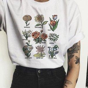 zsiibo 2019 yaz kadın kısa kollu bitki baskılı moda baz zsiibo 2019 yaz kadın kısa kollu T-tişört bitki baskılı moda