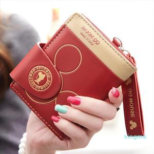 New- Wallet mignon Portfel court portefeuille Portfel Damski Porte-cartes Femmes Cartera Mujer