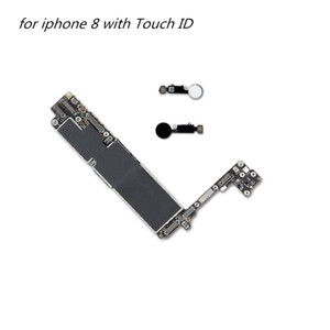 Mobile phone motherboard parts for iphone 8 with Touch ID Unlocked Mainboard for iPhone 8 Logic Board