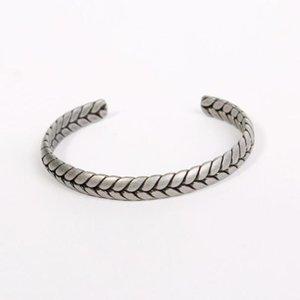 2020 estilo de trigo del oído en forma de brazalete Para Hombres Mujeres Retro joyería de acero inoxidable Viking informal Old Fashion Pulseira