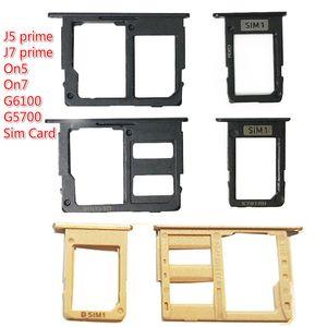 10pcs lot SIM Holder Slot Adapter For Samsung Galaxy J5 prime J7 prime On5 On7 G6100 G5700 Sim Card Reader Holder Slot Connector