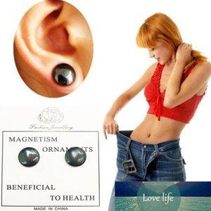 Black Magnet Earrings Meridians earrings No Hold Ear Ring pierced Earring Magnetic Slimming Healty Jewelry