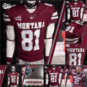 2020 Montana Grizzlies Yeni Futbol Jersey Kris Brown Garrett Graves Camron Humphrey Dalton Sneed Ryan Arntson Matthew Rensvold Nick Ostmo