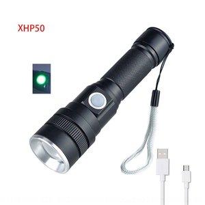 Legierung P50 Fern Zoom Taschenlampe Leistungsblitz Anzeige USB-Anzeige Aluminium Neuer Hochleistungs-LED-Beleuchtung ZfDh8