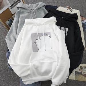 oversized print Kangaroo Pocket Sweatshirts Hoodies Hooded Harajuku Spring Casual Vintage Korean Pullovers Women sweetshirts Y200915