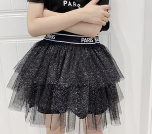 mais novo bebê Crianças Girls Dress Estrela Glitter dança saia tutu Lantejoula Criança Petti saia Crianças Chiffon moda party girl dress