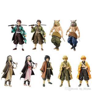 Anime Figure Toy Demon Slayer Kimetsu No Yaiba Action Figures Tanjirou Nezuko Inosuke PVC Collection Model Kids Toys gifts