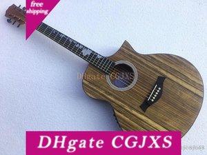Guitarra elétrica acústica especial Walnut madeira, proporcionando personalizado Personalização Service!
