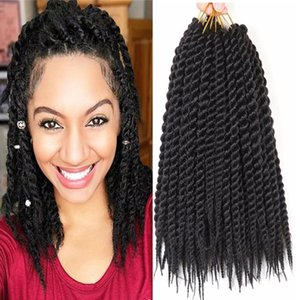 """Mtmei Hair 12"""" 18"""" 22"""" Havana Mambo Twist Hair 12Strands Ombre Tressage Extensions Cheveux noirs Brown Bug Violet Crochet Tresses"""