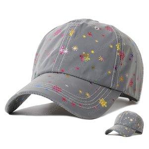 Luminosa gorras de béisbol de los hombres / Mujer Snowflake sombreros al aire libre Parasol gorra de béisbol Gorra de béisbol de algodón hueso deportes corrientes sombrero nuevo