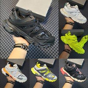 Pista de alta qualidade Paris Triplo s Casual sapatos pretos brancos aumento da altura da plataforma Trainers corredor azuis sapatilhas azuis pai verde branco