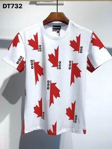 DSQ PHANTOM TURTLE 2020FW New Mens Designer T shirt Italy fashion Tshirts Summer DSQ Pattern T-shirt Male Top Quality 100% Cotton Top 7528
