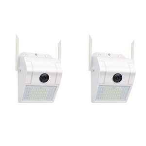 캠코더 1080p 무선 WiFi IP 카메라 2MP 벽 램프 보안 야외 양방향 o 투광 조명 컬러 밤 비전