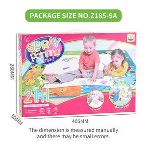 2 в 1 ребенок игрушки головоломки рисования настольные игрушки напыление одеяло для малыша горячего надувательства Развивающие игрушки подарка ребенка