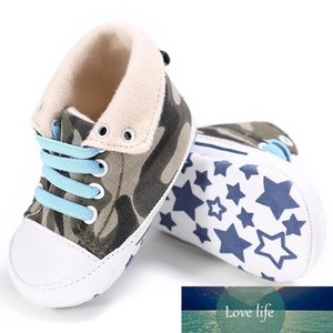Toddler First Walker Baby Shoes Non-slip Casual Canvas Baby Soft Soled High Cute Stars Shoes Six Colors
