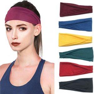 женского фитнес спорт креста голова творческого новый пот поглощающих Belt стрейч хлопок косынки Упругих хлопка волосы полосы полоса волосы l1uDA l1uD