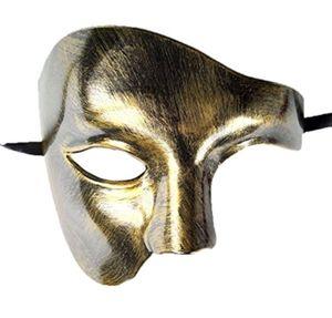 Masque de mascarade Vintage Le Fantôme de l'Opéra One Eyed Half Costume Visage