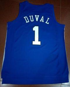 Benutzerdefinierte Männer Jugend Frauen # 1 Duke Blue Devils Trevon Duval Jersey Basketball-Jersey-Größe S-6XL oder benutzerdefinierten beliebigen Namen oder Nummer Jersey