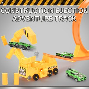 Engineering alloy car Ejection self - mounted orbit Make the baby cognitive interest independent construction Build it yourself