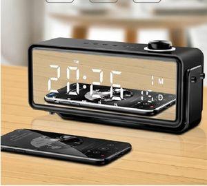2020 vente chaude sans fil calendrier haut-parleur Bluetooth téléphone mobile mini-réveil stéréo petit haut-parleur double portable multifonctionnel subwoofe