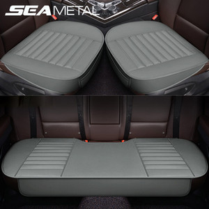 PU Leather Automobiles Seat Covers Protector Car Seats Cover Mats Four Seasons Interior Seat Cushion Leather Cover Accessories